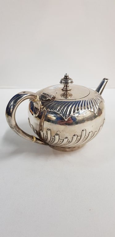 SILVER TEAPOT LONDON 1881 BY EDWARD HUTTON - £120