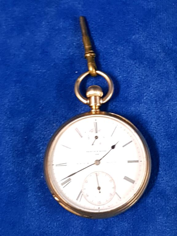18 Carat Gold Pocket Watch With Power Reserve - £600