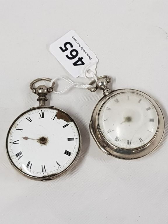 2 Silver Georgian Pear Cased Watches (Require Repair) - £130