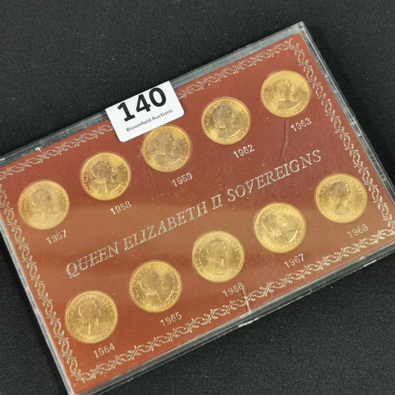 Sovereign Set of 10 - £2500