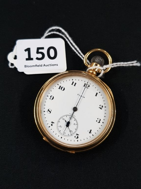 18 Carat Gold Elgin Pocket Watch - £1325 + Fees