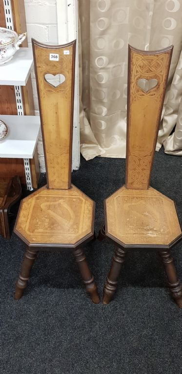 Pair of Irish Spinning Chairs - £190