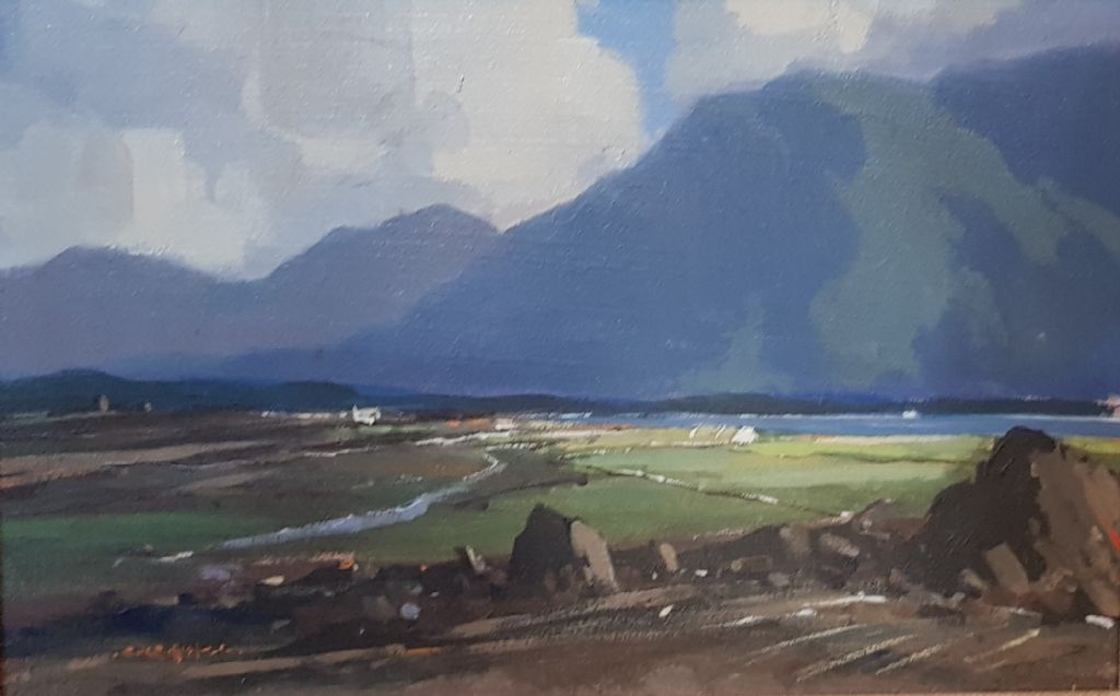 GEORGE K GILLESPIE - OIL - IRISH LANDSCAPE - £250