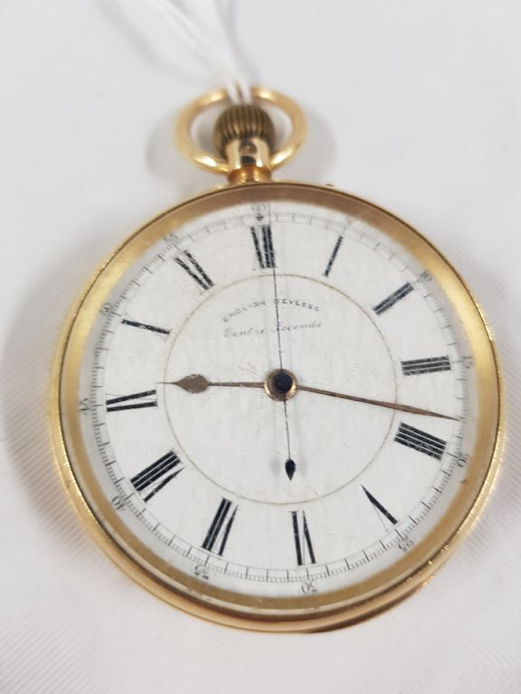 18 Carat Gold Chronograph Pocket Watch - £700