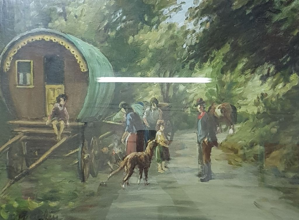 CHARLES MCAULEY - OIL - STOP FOR THE NIGHT - £1700