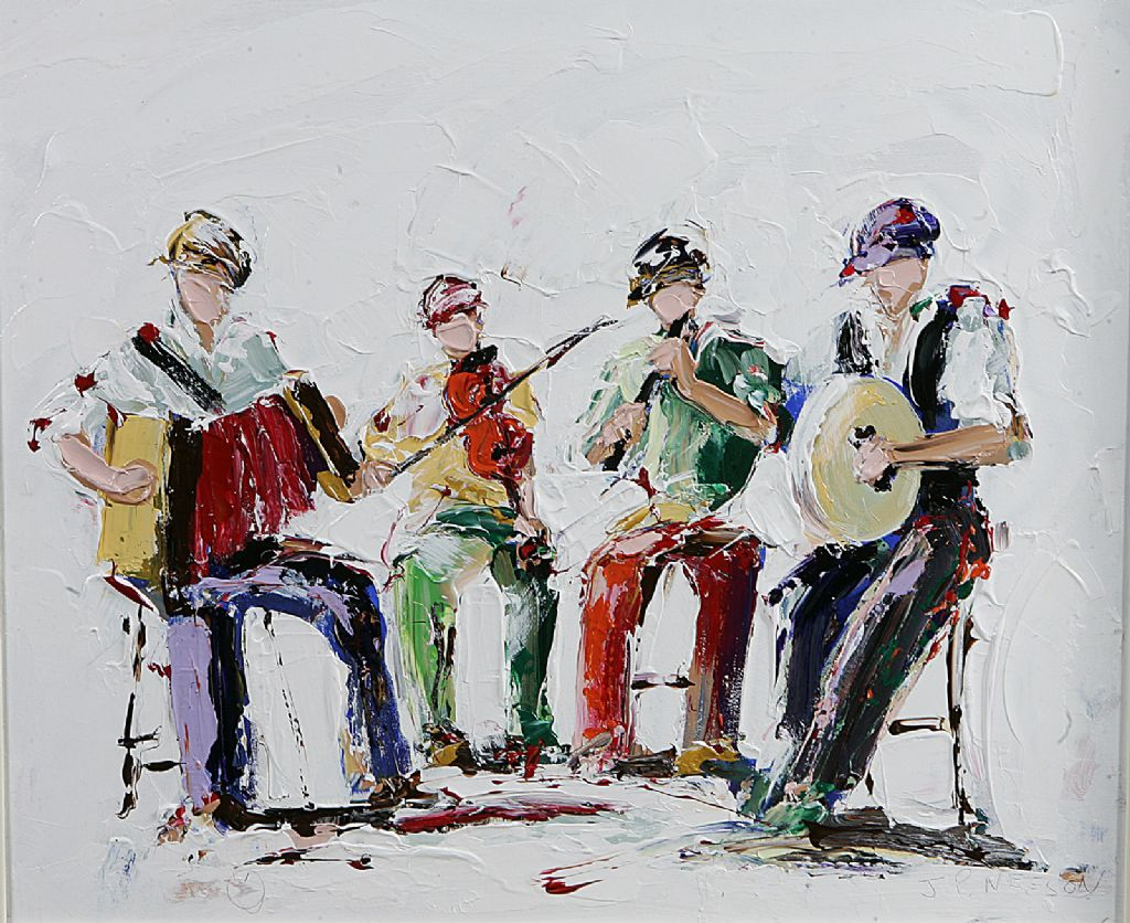 J P Neeson - Oil - Fiddlers Feck - £480