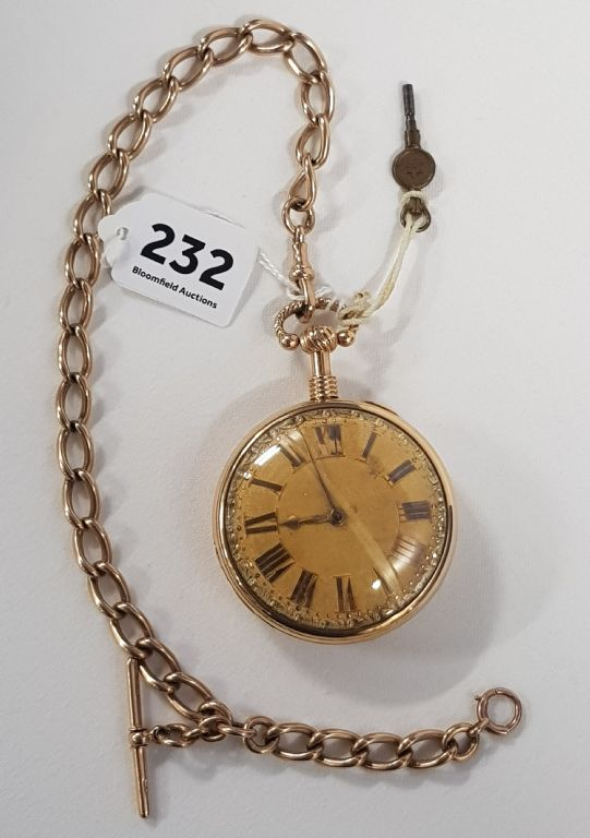GEORGIAN 18 CARAT GOLD VERGE QUARTER REPEATING POCKET WATCH - £3000