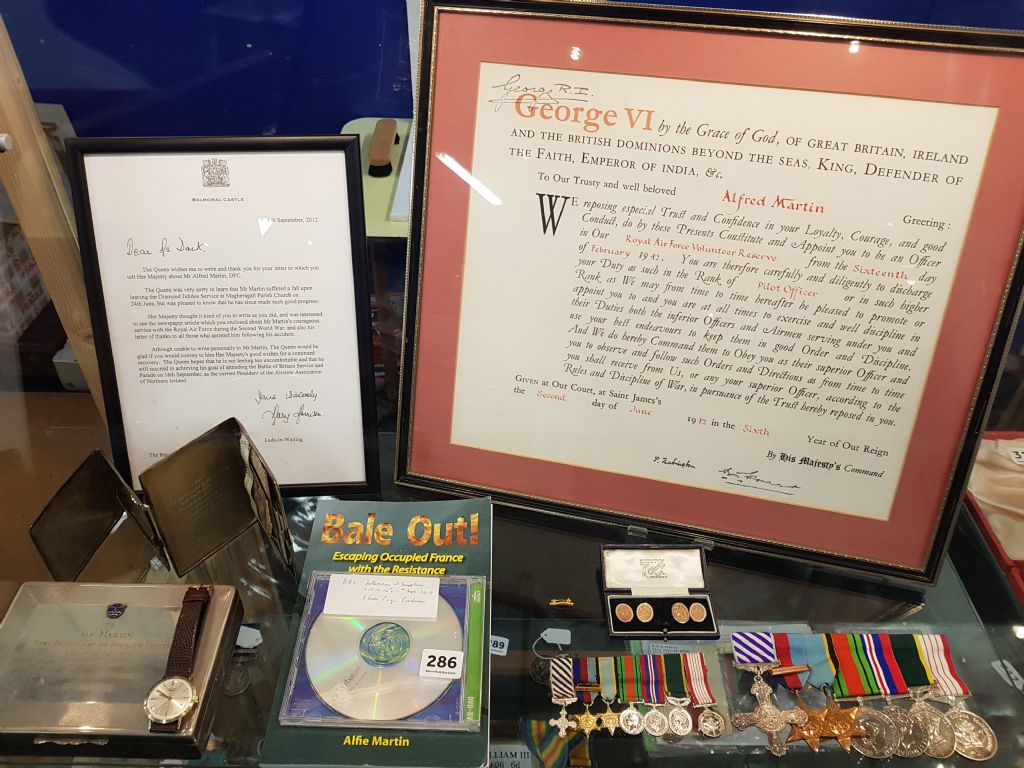 ALF MARTIN MEDAL GROUP & ASSOCIATED EPHEMERA ETC - £4400