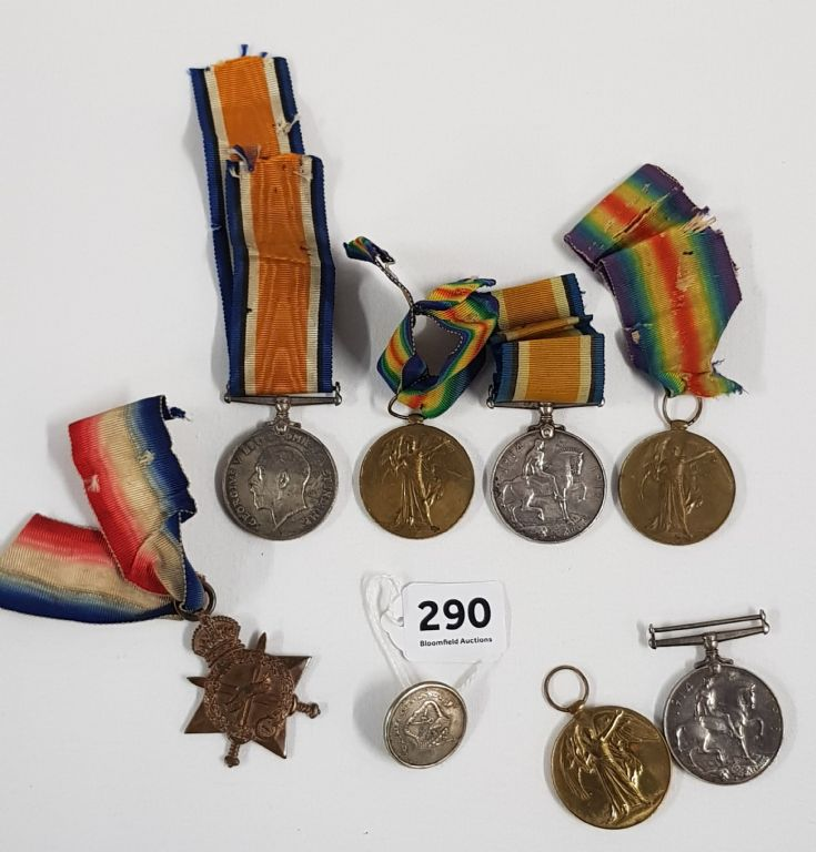 GROUP OF WAR MEDALS - £190