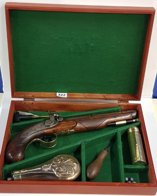 AN ANTIQUE .75 CAVALRY PISTOL - £400