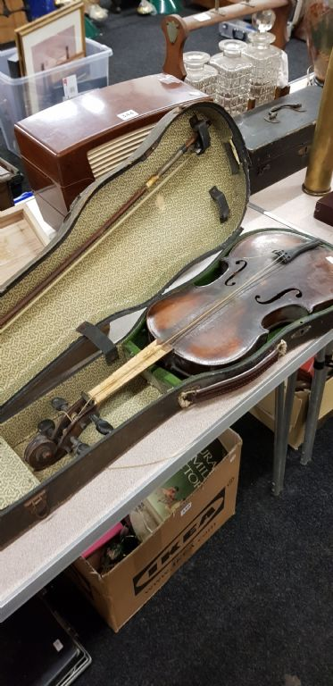 Old Violin, Bow & Case - £650