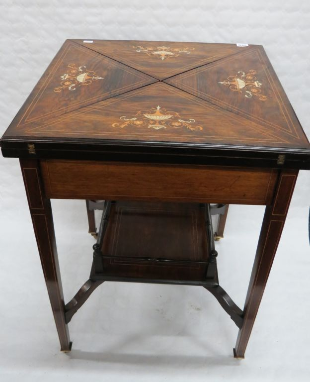 Immaculate Edwardian Inlaid Games Table - £260