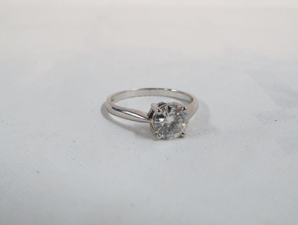 18 Carat White Gold Diamond Solitaire Ring - £2500