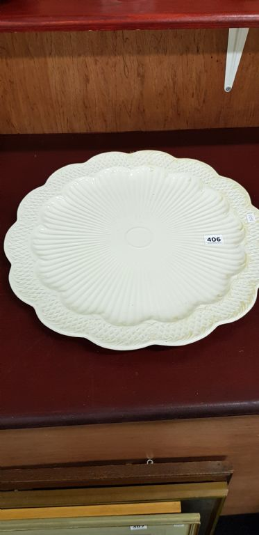 LARGE SECOND PERIOD BELLEEK PLATTER - £180