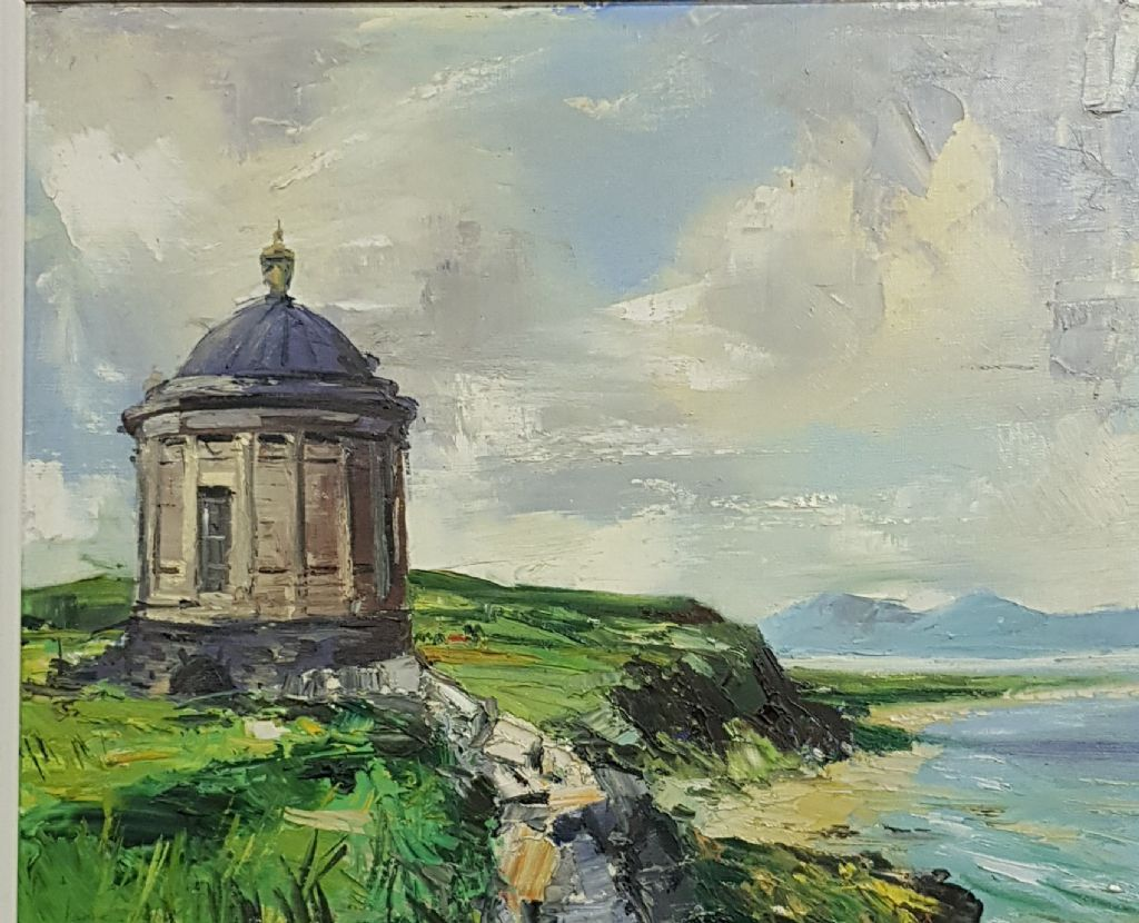 Kenneth Webb - Oil On Canvas - Mussenden Temple - £1200 + Fees