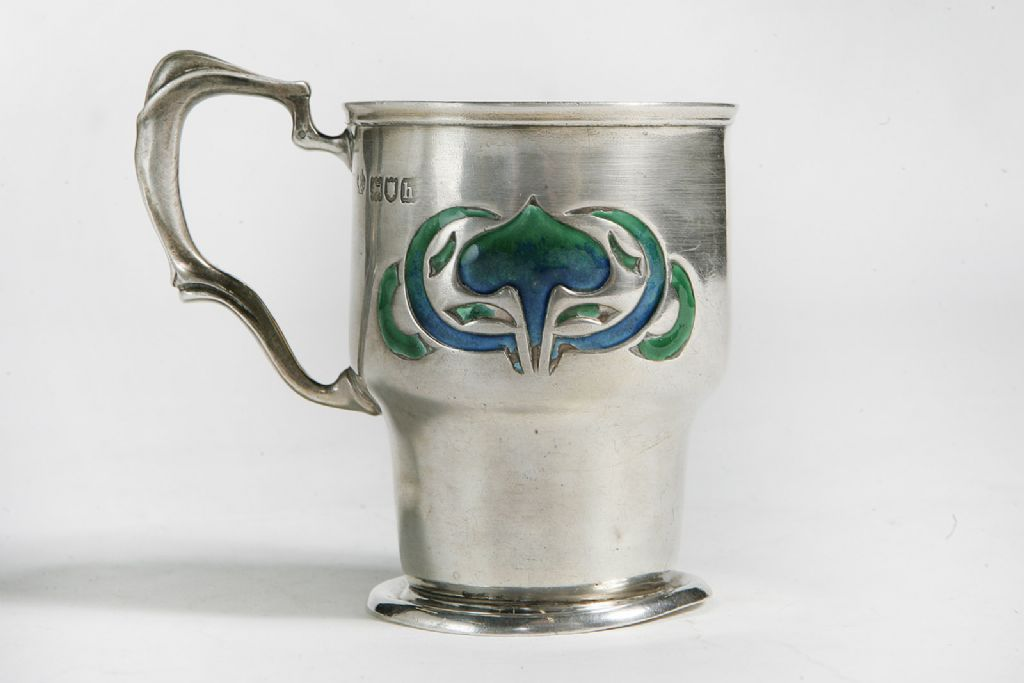 Silver & Enamel Cup - London 1903/04 by William Hutton & Sons Ltd - £170
