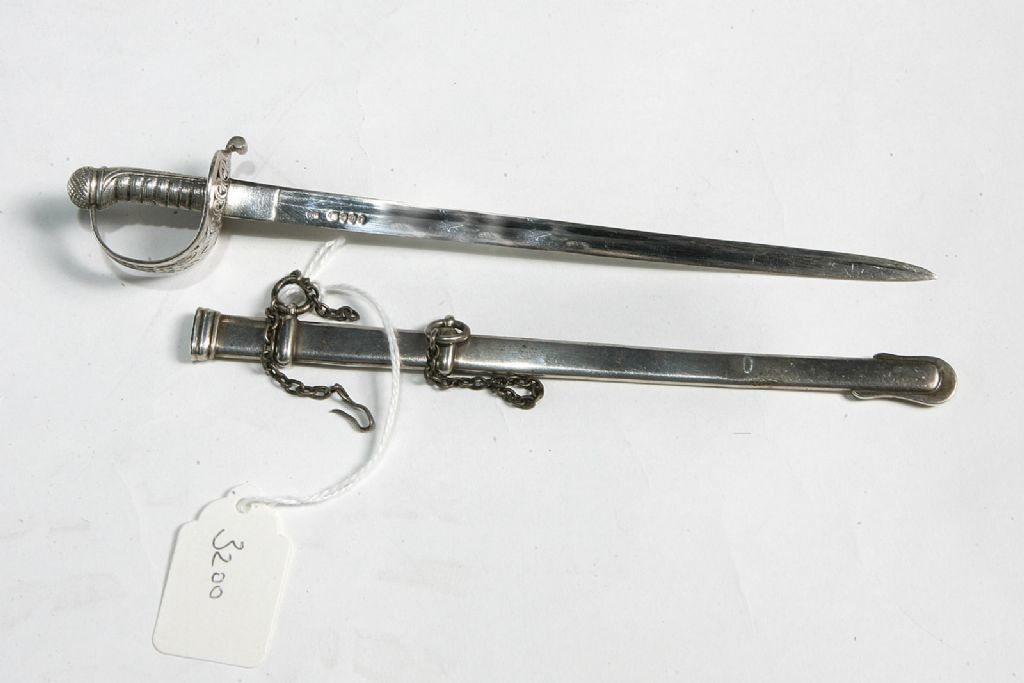 Silver Letter Opener in shape of an Infantry Officers Sword - London 1877 - £110