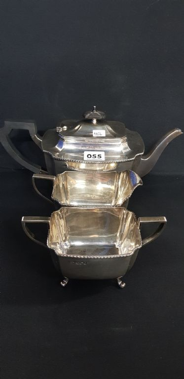 3 Piece Solid Silver Tea Service - £320 + Fees