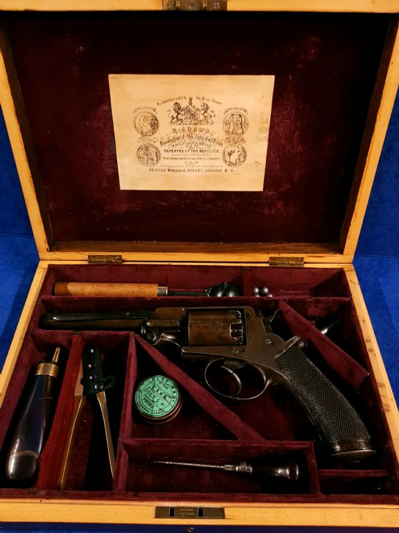 Cased 19th Century Percussion Adams Revolver - £1400