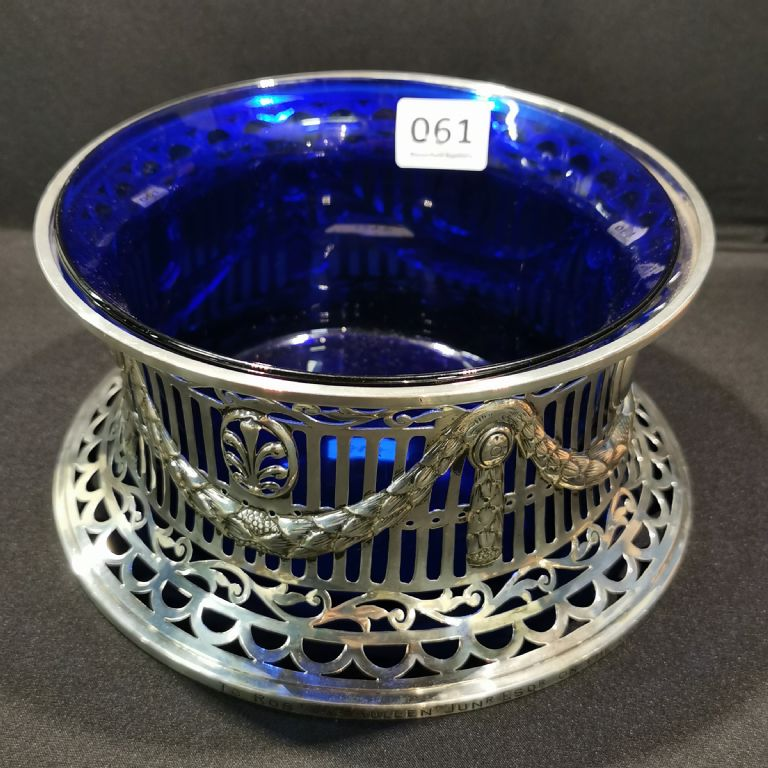 English Silver Dish Ring with Liner - £460