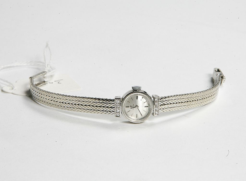 18 Carat Gold Ladies Omega Cocktail Watch with Diamond Set Bracelet - £490