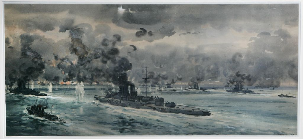 Frank Woods - Watercolour - Battle of Jutland - £1400