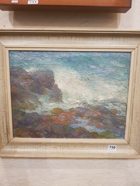 Oil On Board Attributed to Rodric O'Connor - Seascape - £420