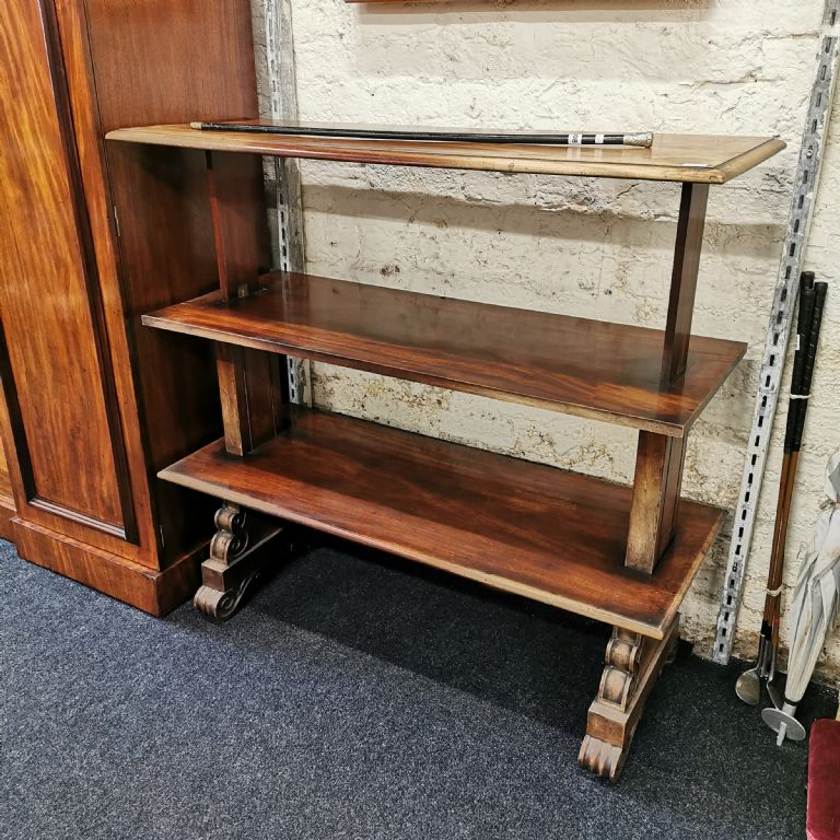 VICTORIAN MAHOGANY 3 TIER TELESCOPIC BUFFET - £250