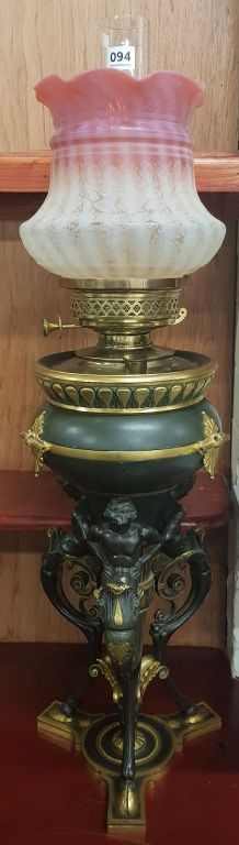 LARGE AUSTRIAN OIL LAMP - £500