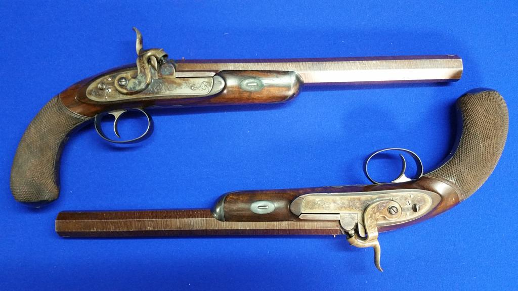 Pair of 19th Century Flintlock Pistols- Sold £2200