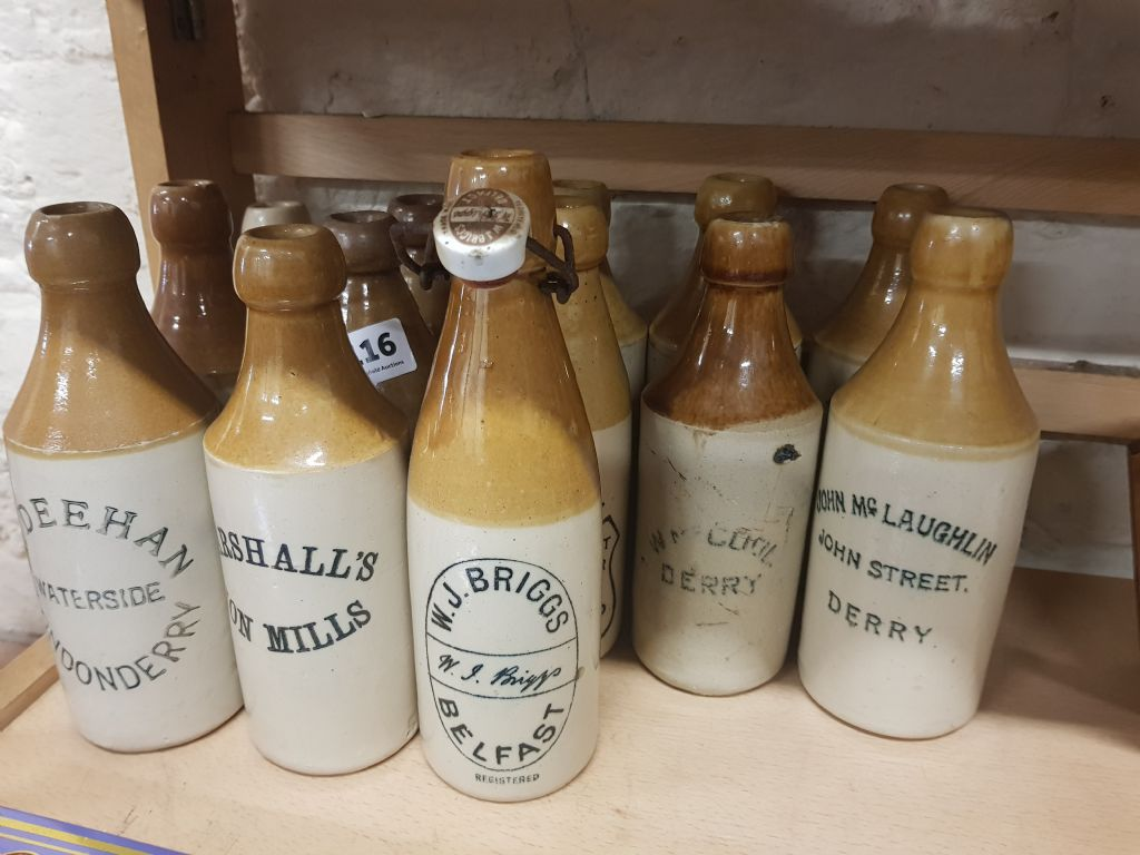 QTY OF STONEWARE BOTTLES - £600
