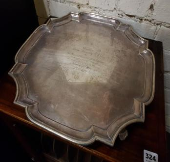 Victorian Silver Tray - SOLD £440